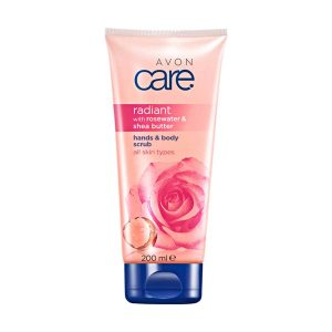 Avon Care Hand & Body Scrub Radiant with Rose Water & Shea Butter 69365 200ml