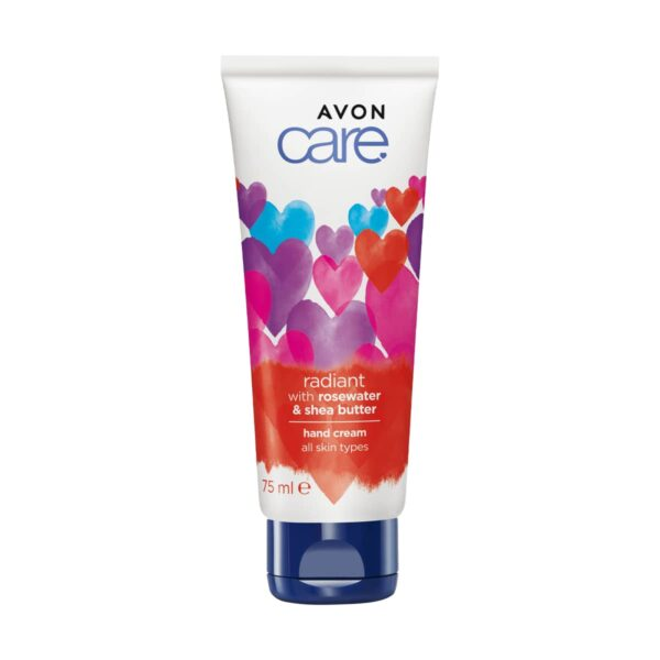 Avon Care Hand Cream Radiant with Rose Water & Shea Butter - Valentine 1399260 75ml